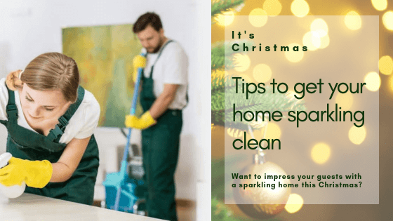 Tips to get your home sparkling clean this Christmas